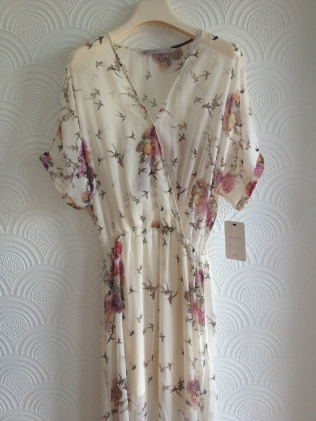Zara Long Oriental Crossover Maxi Dress